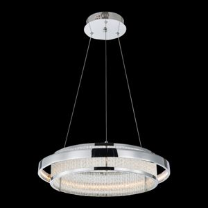 Luxera SEATTLE LED/34W,3000K,CHR/SILVER/CLEAR 64389