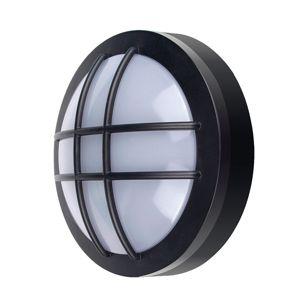 Solight Solight LED vonkajšie osvetlenie guľaté s mriežkou, 13W, 910lm, 4000K, IP65, 17cm, čierna